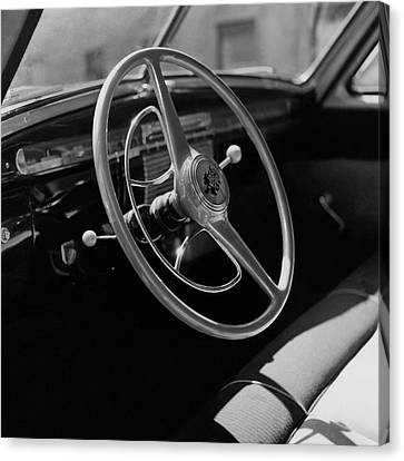 The Dashboard Of A Frazer Sedan Canvas Print by Constantin Joffe