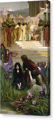 The Daughters Of Judah In Babylon Canvas Print by Herbert Gustave Schmalz