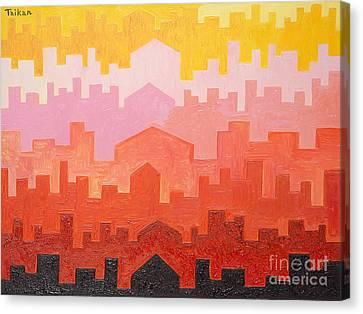 The Dawn In Arabia Canvas Print by Taikan Nishimoto