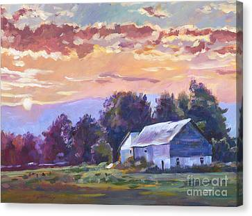The Day Ends   Canvas Print by David Lloyd Glover