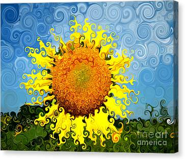 The Day Of The Sunflower Canvas Print by Lorraine Heath