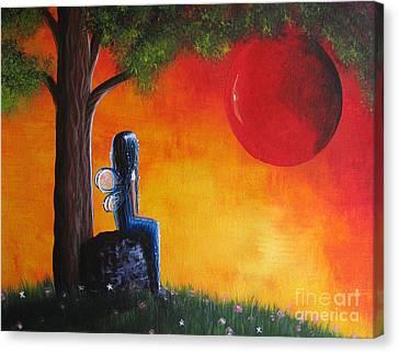 The Day She Found Beautiful By Shawna Erback Canvas Print by Shawna Erback