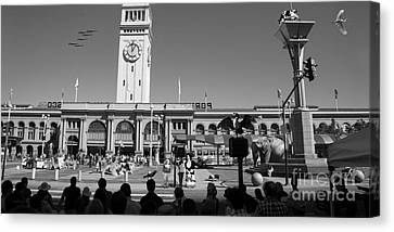 The Day The Circus Came To Town Again Dsc1745 Long Bw Canvas Print by Wingsdomain Art and Photography