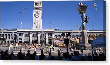The Day The Circus Came To Town Again Dsc1745 Long Canvas Print by Wingsdomain Art and Photography