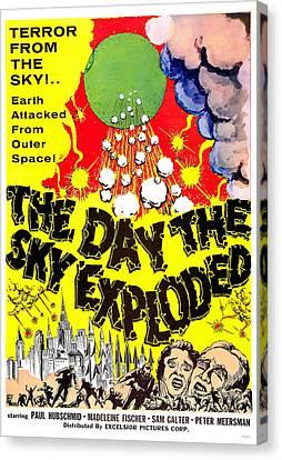 The Day The Sky Exploded, Aka La Morte Canvas Print by Everett