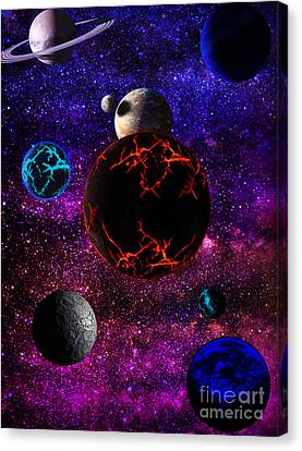 The Dead Solar System  Canvas Print by Naomi Burgess