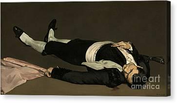 Unconscious Canvas Print - The Dead Toreador by Edouard Manet