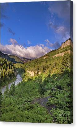 The Dearborn River In The Lewis Canvas Print by Chuck Haney