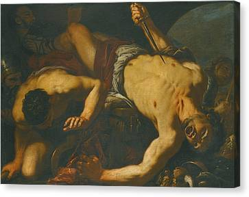 The Death Of Ajax Canvas Print by Antonio Zanchi