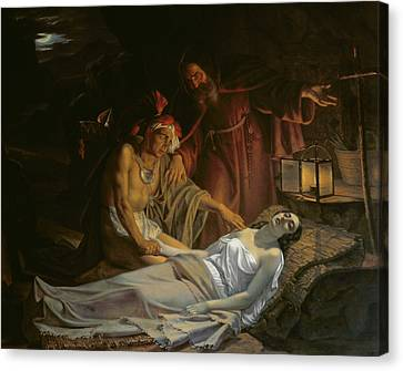 The Death Of Atala Canvas Print by Cesare Mussini