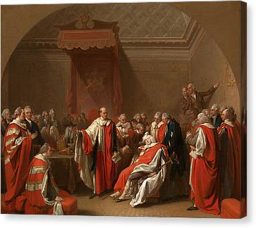 The Death Of Chatham The Death Of The Earl Of Chatham Canvas Print by Litz Collection