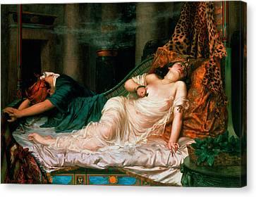 The Death Of Cleopatra Canvas Print by Reginald Arthur