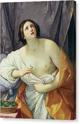The Death Of Cleopatra Canvas Print by Guido Reni