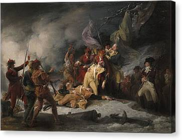 The Death Of General Montgomery In The Attack On Quebec, December 31, 1775, 1786 Oil On Canvas Canvas Print