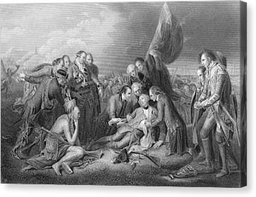 The Death Of General Wolfe, 1759, From The History Of The United States, Vol. I, By Charles Mackay Canvas Print
