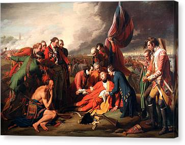 The Death Of General Wolfe Canvas Print by Benjamin West