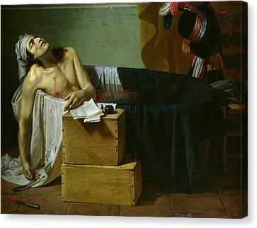 The Death Of Marat Canvas Print by Joseph Roques