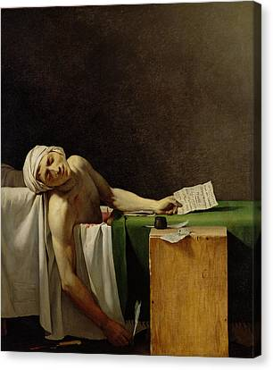 The Death Of Marat, After The Original By Jacques-louis David 1748-1825 Oil On Canvas Canvas Print by Jerome Martin Langlois