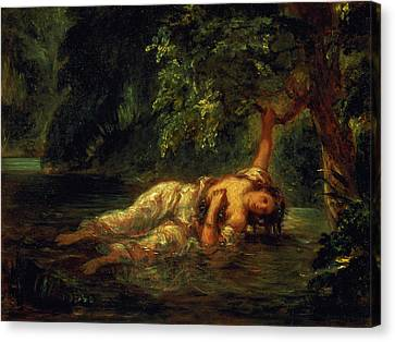 The Death Of Ophelia, 1844 Canvas Print by Ferdinand Victor Eugene Delacroix