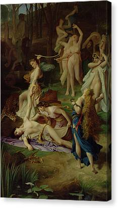 The Death Of Orpheus Canvas Print by Emile Levy