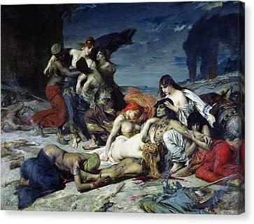 The Death Of Ravana Canvas Print by Fernand Cormon