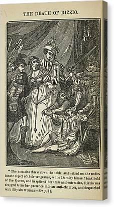 The Death Of Rizzio Canvas Print
