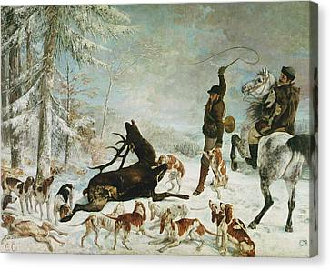 The Death Of The Deer, 1867 Oil On Canvas Canvas Print