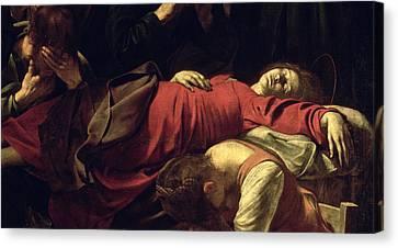 The Death Of The Virgin, 1605-06 Oil On Canvas Detail Of 3678 Canvas Print by Michelangelo Merisi da Caravaggio