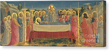 The Death Of The Virgin Canvas Print by Fra Angelico