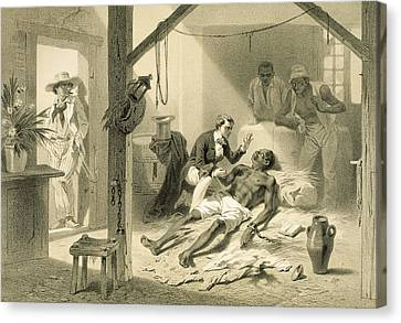 The Death Of Uncle Tom, Plate 11 Canvas Print by Adolphe Jean-Baptiste Bayot
