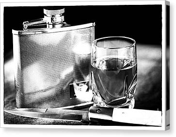 Glass And Metal Art Canvas Print - The Decision by John Rizzuto