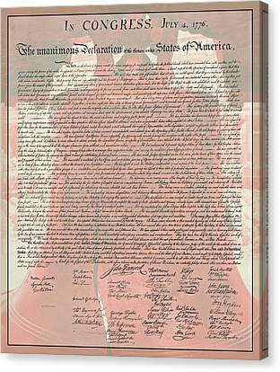The Declaration Of Independence Canvas Print by Stephen Stookey