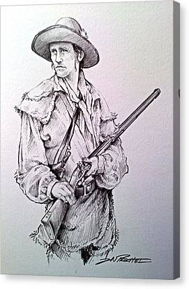 Jeff Daniels Canvas Print - The Deerslayer by Jeff Prechtel