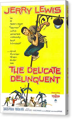 The Delicate Delinquent, Us Poster Canvas Print by Everett