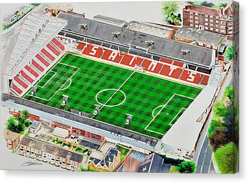 Ground Canvas Print - The Dell Stadia Art - Southampton Fc by Brian Casey