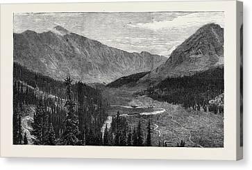 Arkansas Canvas Print - The Denver And Rio Grande Railway, New Mexico by Mexican School
