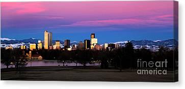 The Denver Skyline Canvas Print by Jennifer Mecca