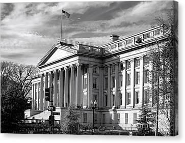 D.c. Canvas Print - The Department Of Treasury by Olivier Le Queinec