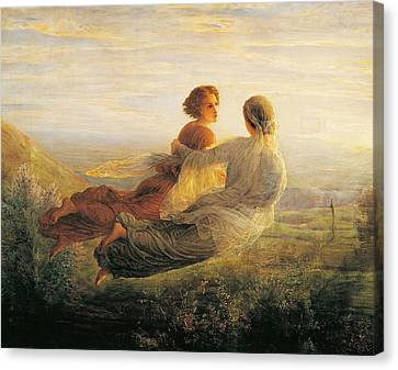 The Departure Of The Soul Canvas Print by Louis Janmot