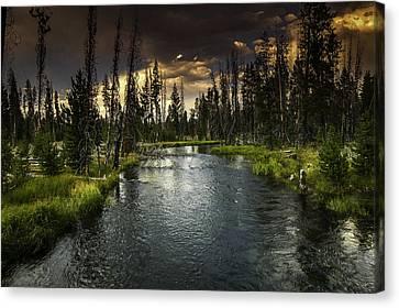 The Deschutes River Canvas Print by Jean-Jacques Thebault
