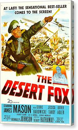 The Desert Fox, Aka The Desert Fox The Canvas Print by Everett
