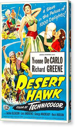 1950 Movies Canvas Print - The Desert Hawk, Us Poster, From Left by Everett