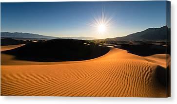 Canvas Print featuring the photograph The Desert Sun by Dan Mihai