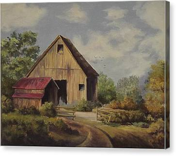 The Deserted Barn Canvas Print by Wanda Dansereau