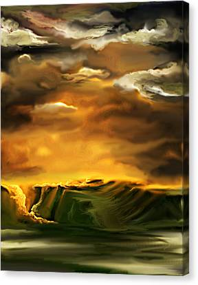 Canvas Print featuring the painting The Desertland by Persephone Artworks