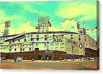 The Detroit Tigers Briggs Stadium In The 1950s Canvas Print
