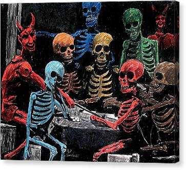 The Devil And Friends Canvas Print by Jeremy Moore