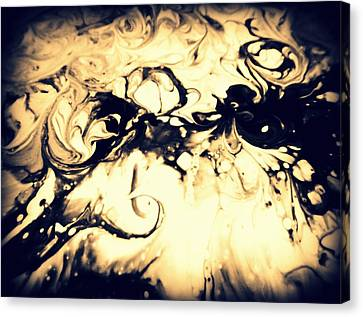 The Devil Smoking Canvas Print by Mlle Marquee