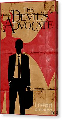 Keanu Canvas Print - The Devil's Advocate 1 by Petros Graphic Design