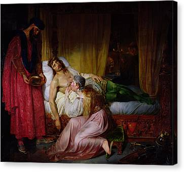 The Devotion Of Princess Sybille, 1832 Oil On Canvas Canvas Print by Felix Auvray